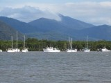 Yachts anchored in Trinity Inlet