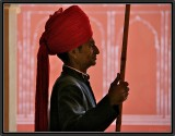 A Guard In City Palace. Jaipur.