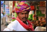 A Villager in the Bazaar - Bundi.