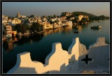 Sunset Light on Udaipur and Pichola Lake.