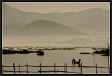 Morning mist on Inle Lake.