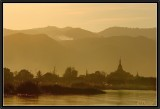 Sunset light on Phaung Daw Oo Pagoda.
