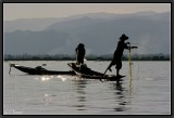 Fishermen's Choreography. Inle Lake.