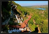 Stairway to Pindaya Caves.