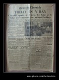 V Day Newspaper Headline, Bletchley Park