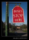 Bus Stop & Tilted Cottage, Black Country Museum