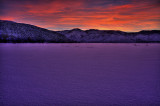 Dramatic Dusk in Winter on Washoe