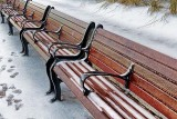 Benches In A Row In Snow 20121212