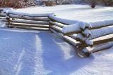 Snowy Split Rail Fence 32309
