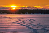 Frozen Lower Rideau Lake Sunrise 20130204