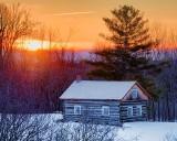 Log Cabin At Sunrise 20130217