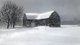 Barn In Snowstorm DSCF04483