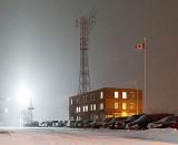 Rail Yard Building At Night 34274