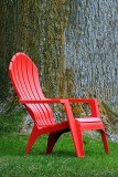 Red Plastic Muskoka Chair DSCF01291