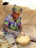 Pots are made by hand without the use of a wheel. Pottery village Sitiana, Burkina Faso