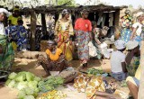 Local market in Burkina Faso