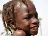 Fancy hairstyle of a girl in Burkina Faso