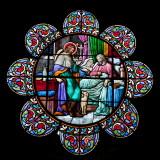 Vitrail de l'église de Mugron