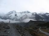 Sook in de wolken - Mt Cook NP