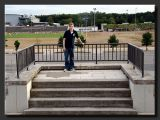 Spencer on the platform at Zeppelin Field