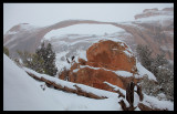Landscape Arch in Snow