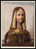 15c Bust of a Lady, Polychrome Wood