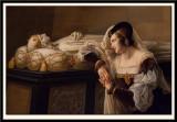 Valentine de Milan pleurant la mort de son epoux. 1822 (detail)