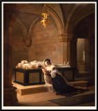 Valentine de Milan pleurant la mort de son epoux. 1822