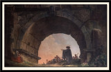 One of three Landscapes by Hubert Robert 1733-1808