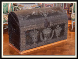 17th century chest covered in Cordoba leather which belonged to Henri IV.