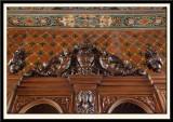 Heavy Decoration on Oak Dresser 19th century