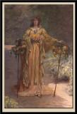 Sarah Bernhardt (1844-1923) dans son jardin de Belle-Ile (detail)