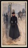 Parisienne: le Boulevard, femme au manchon