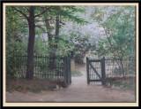 Le Jardin du peintre a Paris 1886