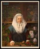 Portrait de Madame Neveu, fleuriste et marchande de fruits, vers 1830