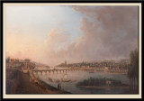 Vue de Tours en aval des ponts, prise pes coteaux de Saint-Cyr, vers 1785
