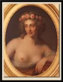 Grande Tete d'etude de femme couronnée de roses, 1789