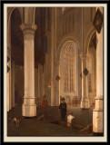 Intérieur de la Oude Kerk de Delft.