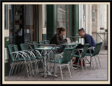 Outside the Café