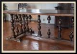 The Renaissance table on 15th century Terracotta tiled floor.
