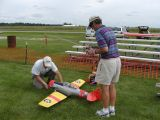 Al & Kent pre flighting the AT6