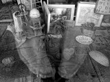 Shop Window Through My Reflection - Mineral Point, Wisconsin