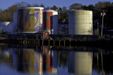 Tanks along the Rondout, Kingston
