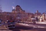 Château Frontenac built in 1892  & Place Royale (1608 ) at -42°C