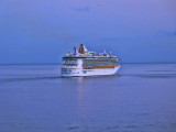 Then the cruise ship disappeared into the dusk ...