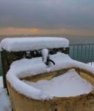 Winter fountain and winter sun...