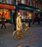 The golden biker