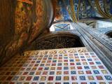 mur à carreaux dans la cathédrale