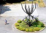 sculpture de la chute