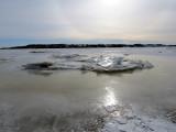 le fleuve était glacé